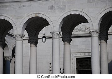 Row of Neo-classical Arches - LA City Hall Arches