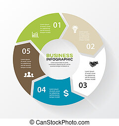 Vector circle arrows for infographic Template for diagram,...