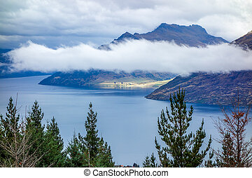 New Zealand 12 - Wakatipu Lake from Queenstown Hill New...