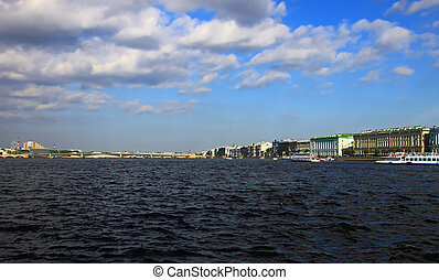Saint Petersburg - View of the Neva River, Saint Petersburg,...