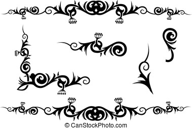 Vector decorations - Different vector decorations isolated...