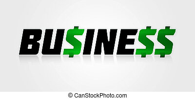 Lucrative Business Concept Typographic Design - Business or...