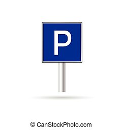 parking sign vector illustration