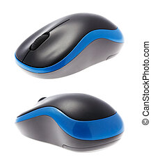 computer wireless mouse on white - Beautiful design of a...