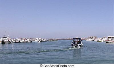 Ria Formosa - Culatra island dock A - Culatra island port,...