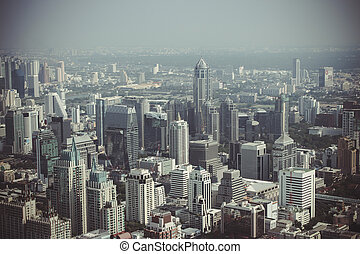 Thailand bangkok view from Baiyoke Tower on 29 march 2013 -...