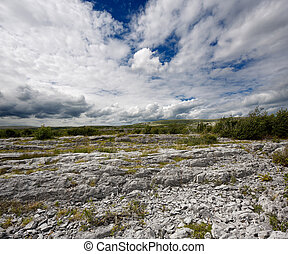 Burren in County Clare, Ireland - Rocky landscape of the...