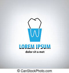 Dental Medicine logo design templat - abstract design...
