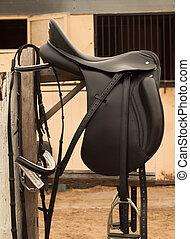 Bridle and horse saddle