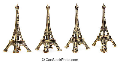 Small Eiffel tower - Close up view of a small Eiffel tower...