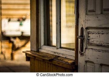 worn door and window