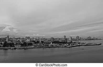 Havana overview from Fortaleza de San Carlos de la Cabaa, a...