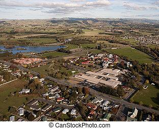 Rural Hospital - Aerial view of rural hospital in Masterton,...
