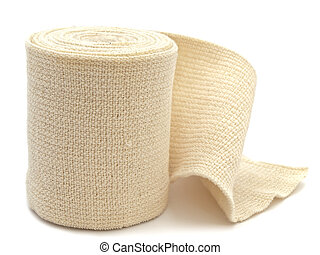 elastic bandage - photo of the elastic bandage against the...