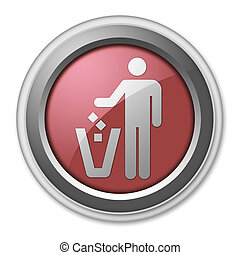 Icon, Button, Pictogram Litter Container - Icon, Button,...