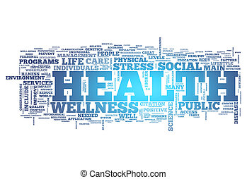 Word Cloud Health - Word Cloud with Health related tags