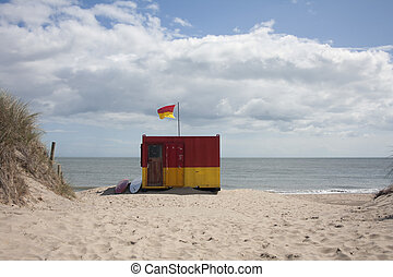 Beach hut - A small lifeguard beach hut in wicklow ireland