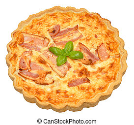 Bacon And Cheese Quiche - Whole bacon and cheese quiche,...