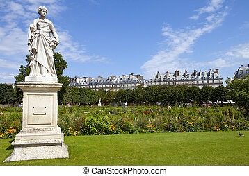 Jardin des Tuileries in Paris - The beautiful Jardin des...