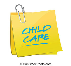 child care memo illustration design over a white background