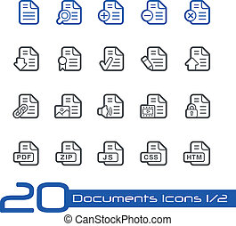 Documents Icons - Set 12 - Line - Vector Icons for your...