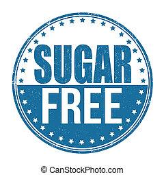 Sugar free stamp - Sugar free grunge rubber stamp on white...