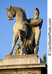 Statue on Pont d'lena in Paris