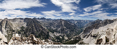 Sierra Summit Panorama - Sierra Nevada summit panorama from...