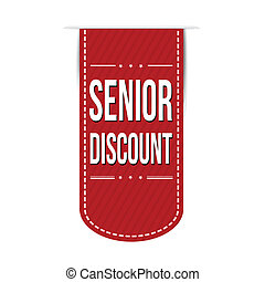 Senior discount banner design over a white background,...