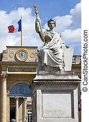 La Statue de la Loi outside Palais Bourbon in Paris - La...
