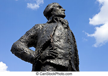 Thomas Jefferson Statue in Paris - A statue dedicated to...