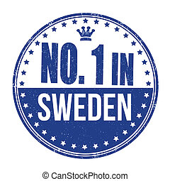 Number one in Sweden stamp - Number one in Sweden grunge...
