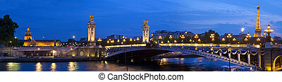 Les Invalides, Pont Alexandre III and the Eiffel Tower in...