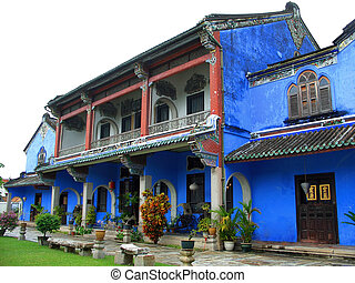Chinese blue mansion - View of the chinese blue mansion in...