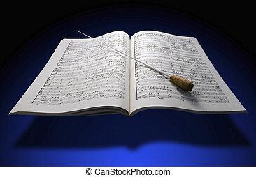 partiture, musik