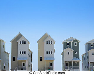 Rowhouses - Pastel colored row houses in Florida