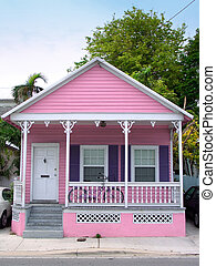 Pink house - Small pink wooden house in Key West, Florida