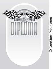 Diploma for the winner of champions