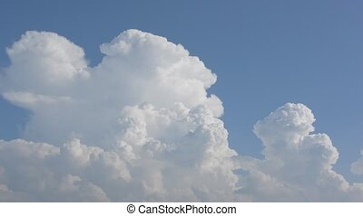 Growing thunderhead - White thunderhead growing in the blue...