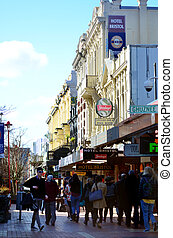 Cuba Street in Wellington New Zealand - WELLINGTON - AUG 22...