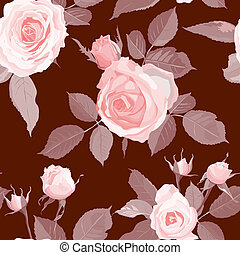 Decorative Floral Seamless Pattern - Luxurious color...