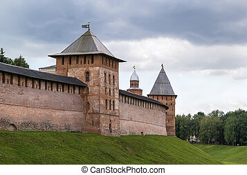Kremlin of Veliky Novgorod - walls and towers of the Kremlin...