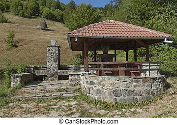 Place for repose in Balkan mountain, Bulgaria