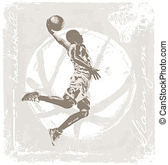 slam jam basket ball - basketball vector illustration for...