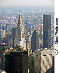 Chrysler building, New York - View over Chrysler building...
