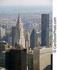 Chrysler building, New York - View over Chrysler building...