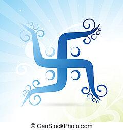 artistic swastik symbol - beautiful artistic swastik symbol...