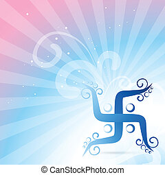 swastik symbol - beautiful swastic vector background design