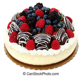 Chocolate Covered Strawberry and Fruit Cheesecake -...