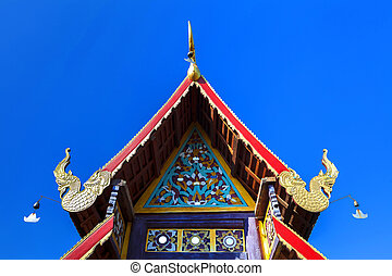 temple - Detail of Beautiful old temple in Mae Chaem...